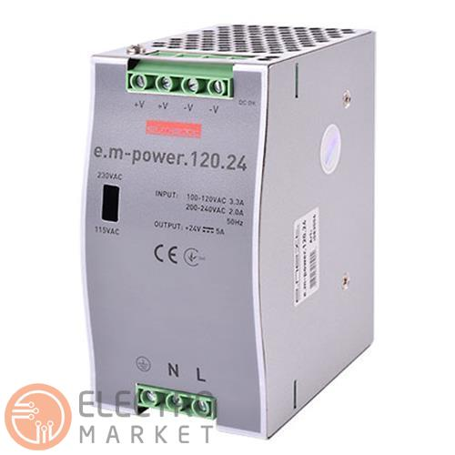 Блок питания на DIN-рейку e.m-power.120.24 120W DC24V i083006 ENEXT. Фото 1