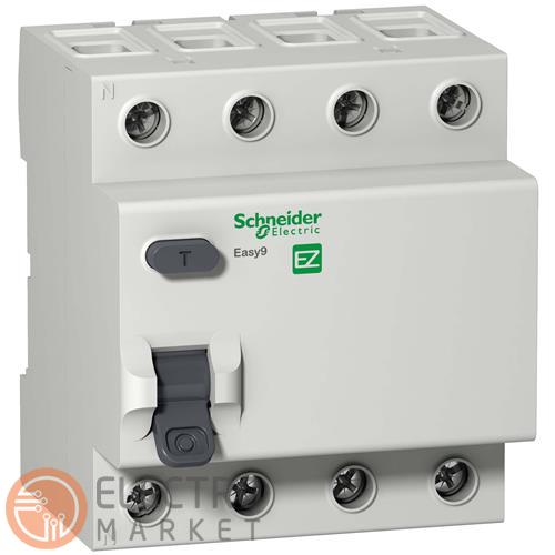 УЗО 40A 100mA 4,5kA тип AC 4 полюса EZ9R54440 Easy9 Schneider Electric. Фото 1
